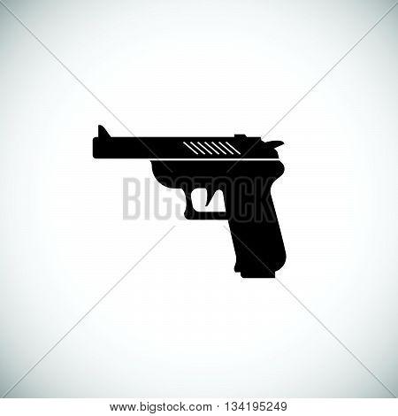Pistol Or Gun Icon. Black Gun Illustration. Vector Gun.