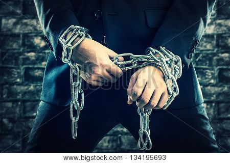 Iron Chain, Man Wearing A Suit