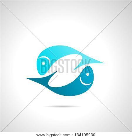 Fish Icon, Symbol Silhouette Sign Element Clip Art