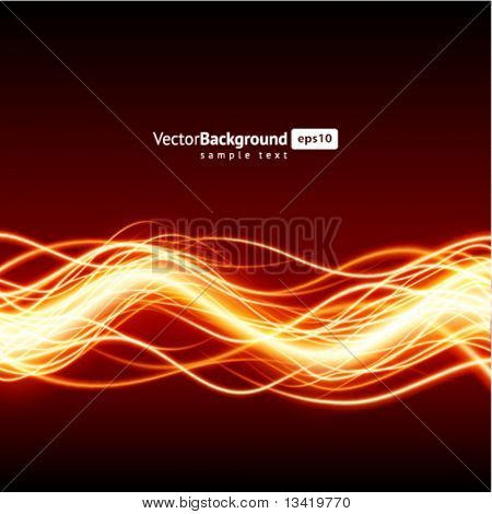 Abstract burn waveform vector background