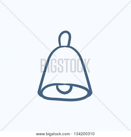 Wedding bell vector sketch icon isolated on background. Hand drawn Wedding bell icon. Wedding bell sketch icon for infographic, website or app.