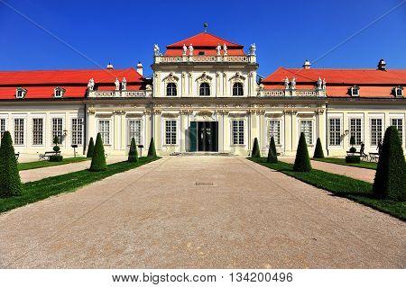 View of the Belvedere park in Vienna, Austria