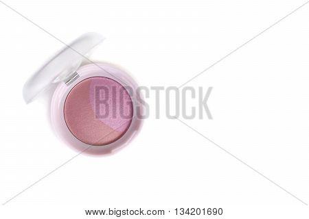 Beautiful Pink Color Blusher Makeup