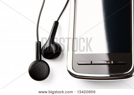Mobile Phone And Ear Buds