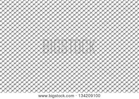 Steel mesh pattern seamless on white background vector illustration.