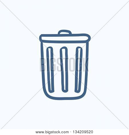 Delete button vector sketch icon isolated on background. Hand drawn Delete button icon. Delete button sketch icon for infographic, website or app.