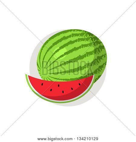 Watermelon icon. Watermelon icon flat. Watermelon icon art. Watermelon icon flat illustration. Watermelon icon vector. Watermelon icon vector image.