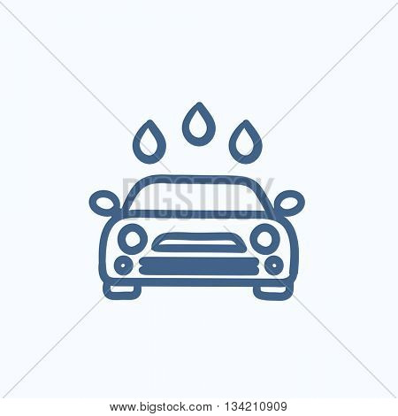 Car wash vector sketch icon isolated on background. Hand drawn Car wash icon. Car wash sketch icon for infographic, website or app.