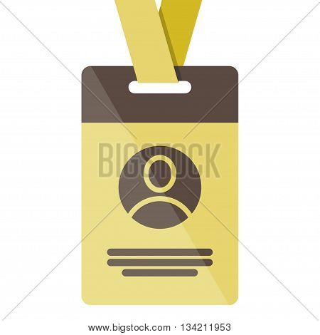 gold Identification card icon. Vector illustration on a white background