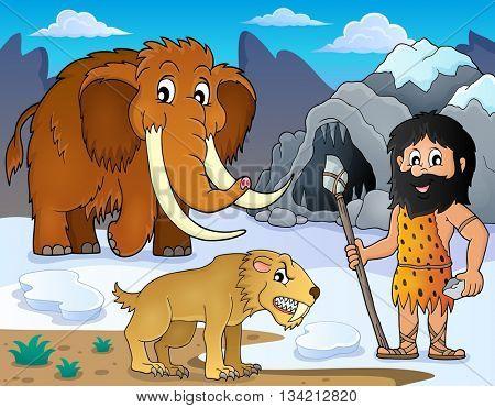 Prehistoric theme image 2 - eps10 vector illustration.