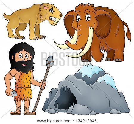 Prehistoric theme set 2 - eps10 vector illustration.