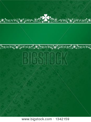Shamrock Background With Header Stripe
