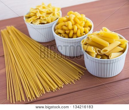 Vermicelli (Pasta) different kinds. Product in crude form