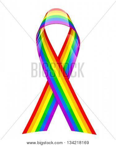 Rainbow ribbon - 3d rendering