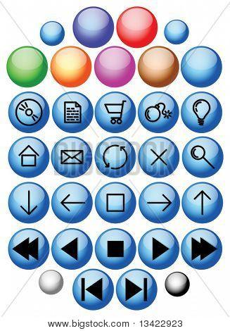 Vector glass buttons