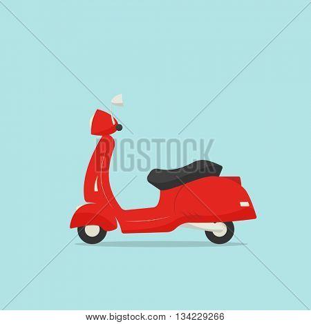Retro scooter cartoon illustration