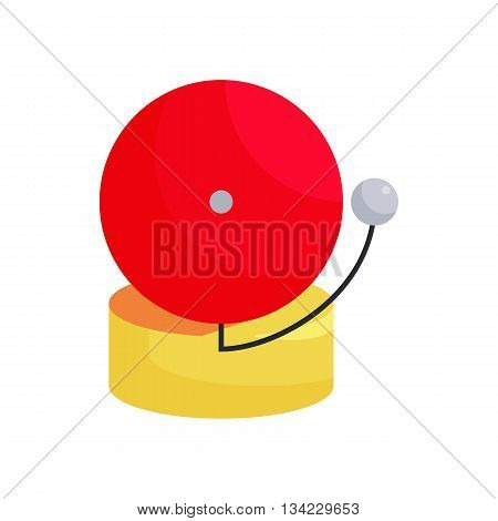 Fire alarm icon in cartoon style on a white background
