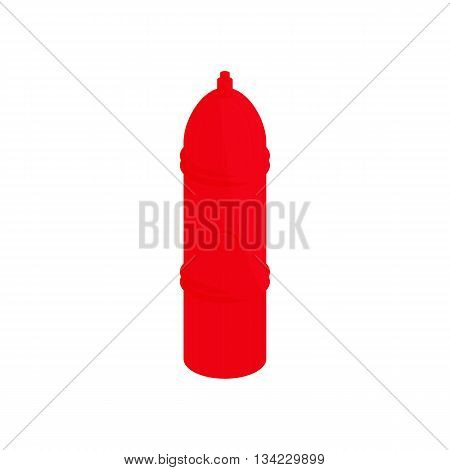 Red fire hydrant icon in cartoon style on a white background