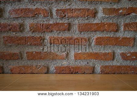 Acient brick wall. Grunge brick wall background.