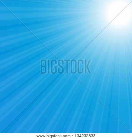 sunburst background vector illustration blue sky eps 10