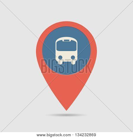Map Pin Bus Station