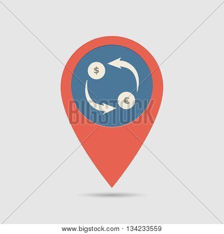 Map Pin Exchange Money