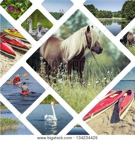 Collage Of Suwalki (poland) Images - Travel Background (my Photos)