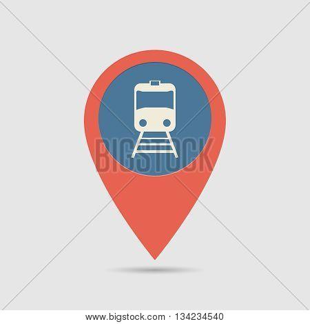 Map Pin Railway Station
