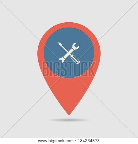 Map Pin For Service Location | Map Marker, Pointer | Tools Icon