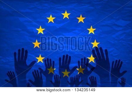 European Union Flag. Euro Vote Flag. Vote For The European Choice