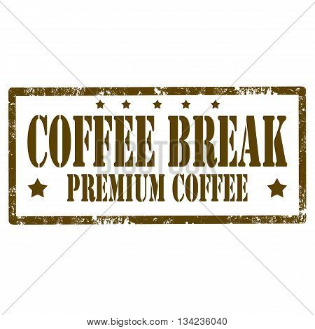 Grunge rubber stamp with text Coffee Break,vector illustration
