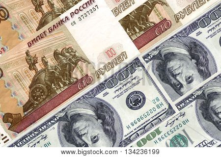 100 (one hundred ) dollars аnd 100 ( one hundred  ) rubles .