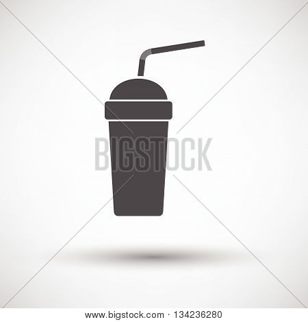 Disposable Soda Cup And Flexible Stick Icon