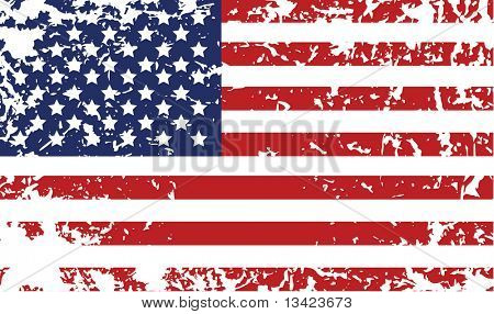 Grunge flag of United States