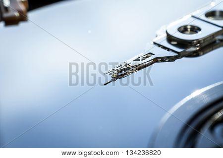 Hdd Internal Parts Close-up Shot