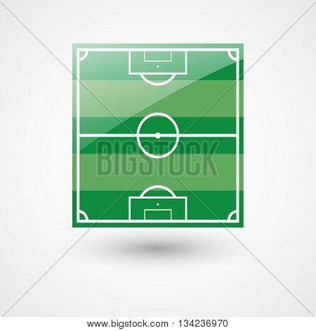 Football Field Vector Icon | Soccer Field
