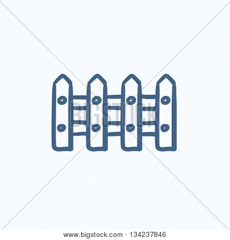 Fence vector sketch icon isolated on background. Hand drawn Fence icon. Fence sketch icon for infographic, website or app.