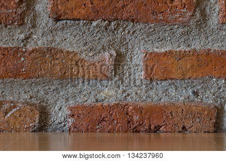 Grunge brick wall background. Background of old vintage brick wall