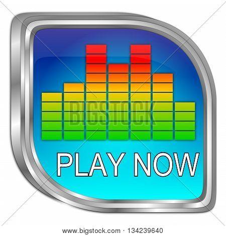 decorative colorful Play Button - 3D illustration