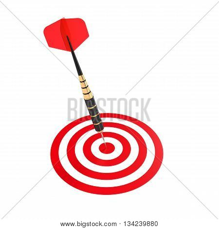 Dart Hitting The Center Aim