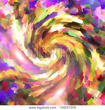 Abstract coloring background of the square wood frame gradient with visual twirl effects