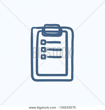 Medical report vector sketch icon isolated on background. Hand drawn Medical report icon. Medical report sketch icon for infographic, website or app.