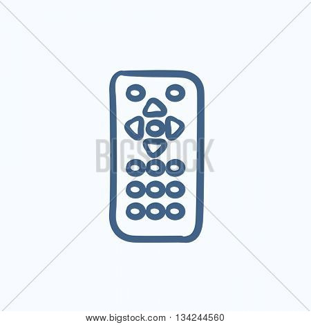 Remote control vector sketch icon isolated on background. Hand drawn Remote control icon. Remote control sketch icon for infographic, website or app.