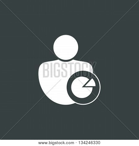 User Pie Icon In Vector Format. Premium Quality User Pie Symbol. Web Graphic User Pie Sign On Dark B