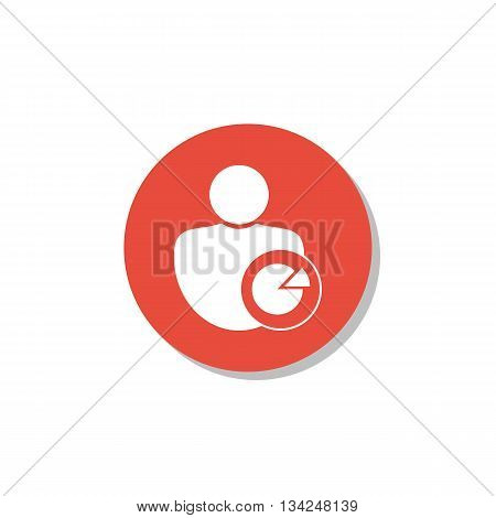 User Pie Icon In Vector Format. Premium Quality User Pie Symbol. Web Graphic User Pie Sign On Red Ci