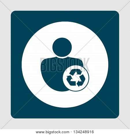 Recycle Icon In Vector Format. Premium Quality Recycle Symbol. Web Graphic Recycle Sign On Blue Back