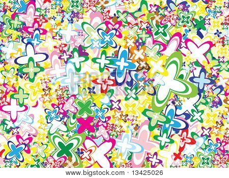 Lot of vivid flowers - background / pattern / texture