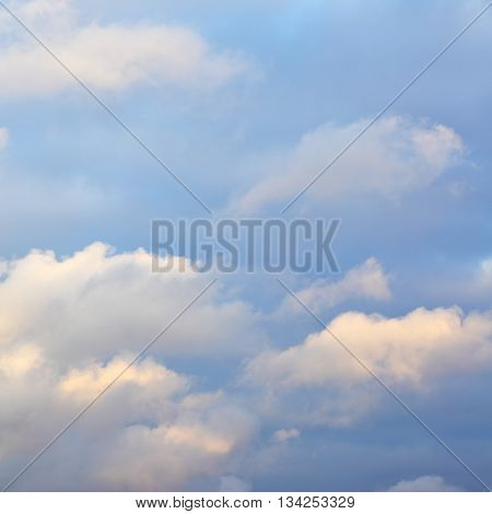 Autumn sky with clouds, may be used as background