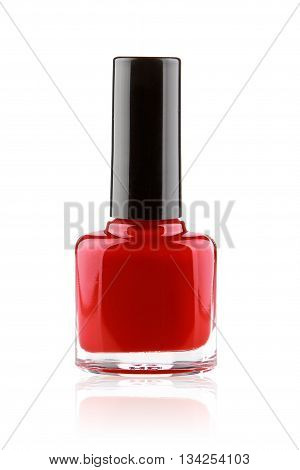 beauty red nail polish isolated on white
