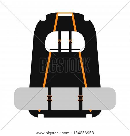 Travel Backpack On A White Background. Vector Illustration.